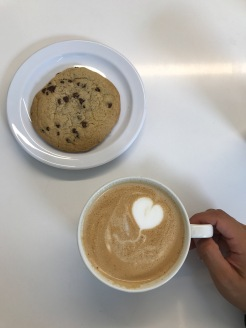 Organic Chocolate Chip Cookie and Pumpkin Latte