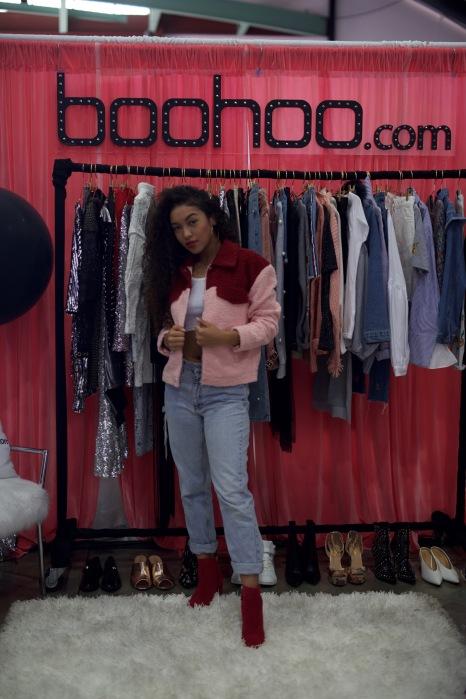 Julianna Killin it in this BooHoo Jacket
